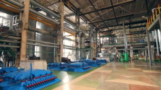 Industrial factory interior. Processing factory inside. Factory building inside. Industrial plant inside. Industrial warehouse interior. Inside factory equipment
