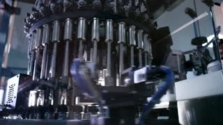 Medical vials quality control at pharmaceutical plant. Pharmaceutical quality control drug. Quality control system in pharmacy industry. Pharmaceutical manufacturing control equipment