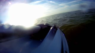 View from jet ski