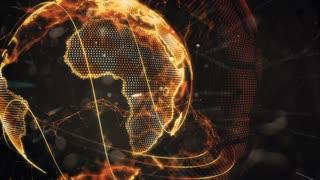 Futuristic Earth Hologram Loop
