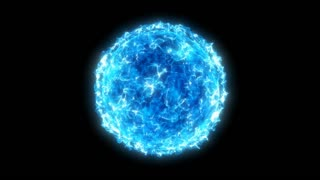 Looped Blue Particle Star with Transparency