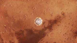 Mars Ship Taking Off