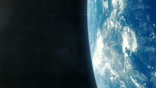 Asteroid Impact on Planet Earth - Blue