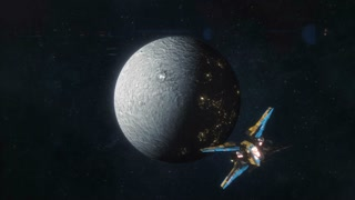 Ceres of the Future - Spaceship Leaving