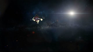 Colony Ship Approaching Exoplanet