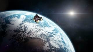 Colony Ship Leaving Earth