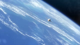 Earth From Space with Ship B