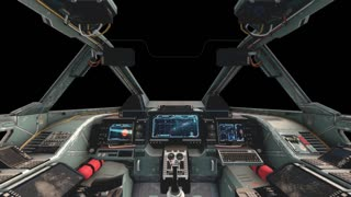 Spaceship Cockpit Interior with Transparency