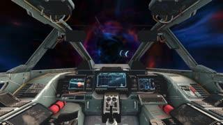 Spaceship Cockpit Interior - Wormhole
