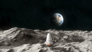 Spaceship on the Surface of the Moon 1