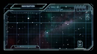 Star Chart with Sci-Fi User Interface