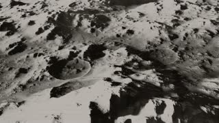 The Earth From The Moon 1 - Black And White Archival Footage
