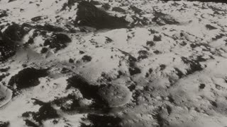 The Earth From The Moon  2 - Black And White Archival Footage