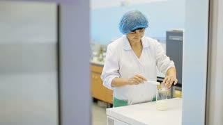 Nutrition laboratory, scientist at work