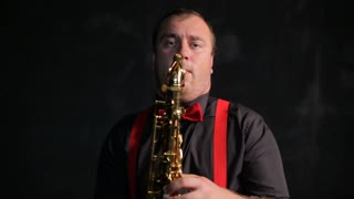 Saxophone player vintage retro style