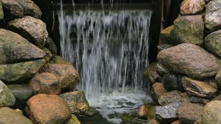 Water stream of an old working watermill