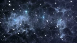 Universe with stars and cosmic gases in motion for interstellar travel backgrounds.