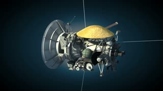 Unmanned spacecraft similar with the Cassini Huygens Saturn orbiter