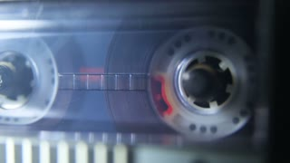 Tape Reels Playing in the Tape Recorder