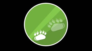 Animal Paws Flat Icon With Alpha Channel