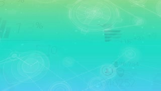 Clear Blue-green Corporate Background With Abstract Elements Of Infographics