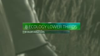 Ecological Lower Thirds