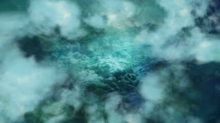 Emerald Clouds Background