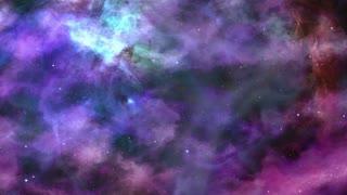Fantastic Blue-violet Space Nebula Background