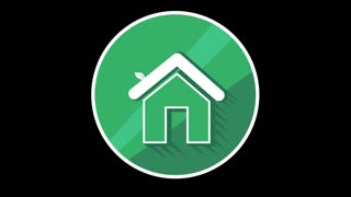 Green House Flat Icon With Alpha Channel