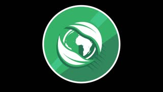Green Planet Flat Icon With Alpha Channel