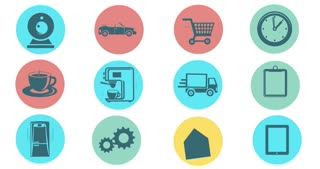 Internet Of Things and Smart Home Concept. Flat Style Animated Icons
