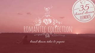Romantic Collection Hand Drawn Titles