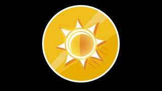 Sun Flat Icon With Alpha Channel