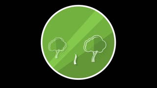 Tree Flat Icon With Alpha Channel
