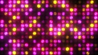 Flashing pink and yellow spotlights
