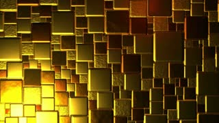 Golden Cubes Background In 4k