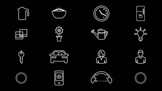 Internet Of Things and Smart Home Icons. 4K