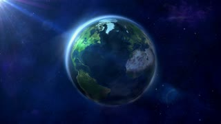 Looped animation of the Earth