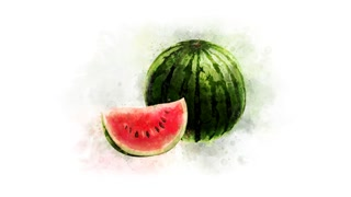 Watermelon Animation on the alpha channel