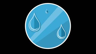Water Drops Flat Icon With Alpha Channel