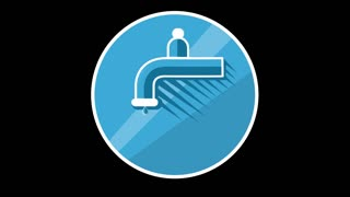 Water Tap Flat Icon With Alpha Channel