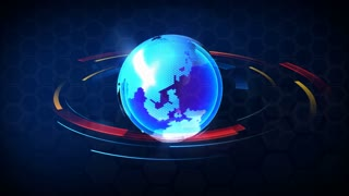 3D Computer generated globe animation. Suits for a