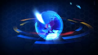 "3D Computer generated globe animation. With word ""business"". Multicolored version. Loops seamlessly."
