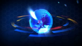 Broadcast globe TECHNOLOGY animation