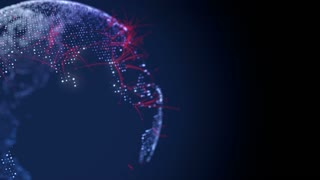 Digital Earth Globe with animated, spreading connections. The clip is loop ready.