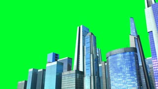 Growing city loop  with chroma key.