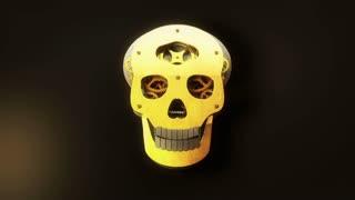 Mechanical skull zoom in