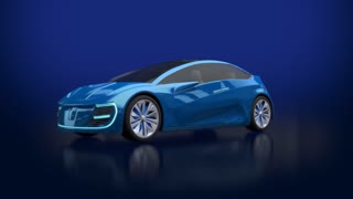 Animation of blue futuristic electric car blueprint concept car animation of blue futuristic electric car with blue lights concept car design 3d render malvernweather Images
