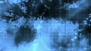 Animated cosmic blue abstract lights grid looping background