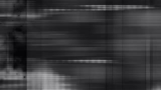 Black and white glitch loop overlay